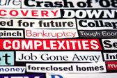 Economic Headlines — Stock Photo