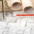 Architectural Blueprints — Stock Photo