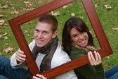 Autumn Couples — Stock Photo