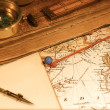 Vintage Map and Chart — Stock Photo #7366394