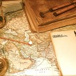 Vintage Map and Chart - Stock Photo