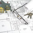 Stock Photo: House Blueprints