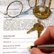 Stock Photo: Contract of Home Sale