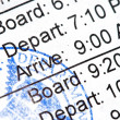 Stock Photo: Boarding Pass