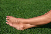 Barefoot in the Grass — Stock Photo