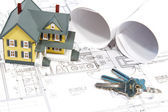 House Blueprints — Stock Photo