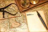 Vintage Map and Chart — Stock Photo