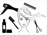 Hairdressing salon — Stock Vector