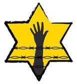 The Holocaust symbol — Stock Vector