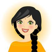 Indian girl — Stock Vector