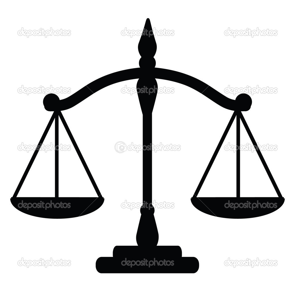 Vector illustration of justice scales   Stock Vector #7452904