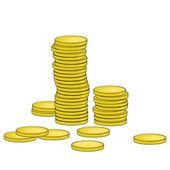 ゴールド コイン — ストックベクタ