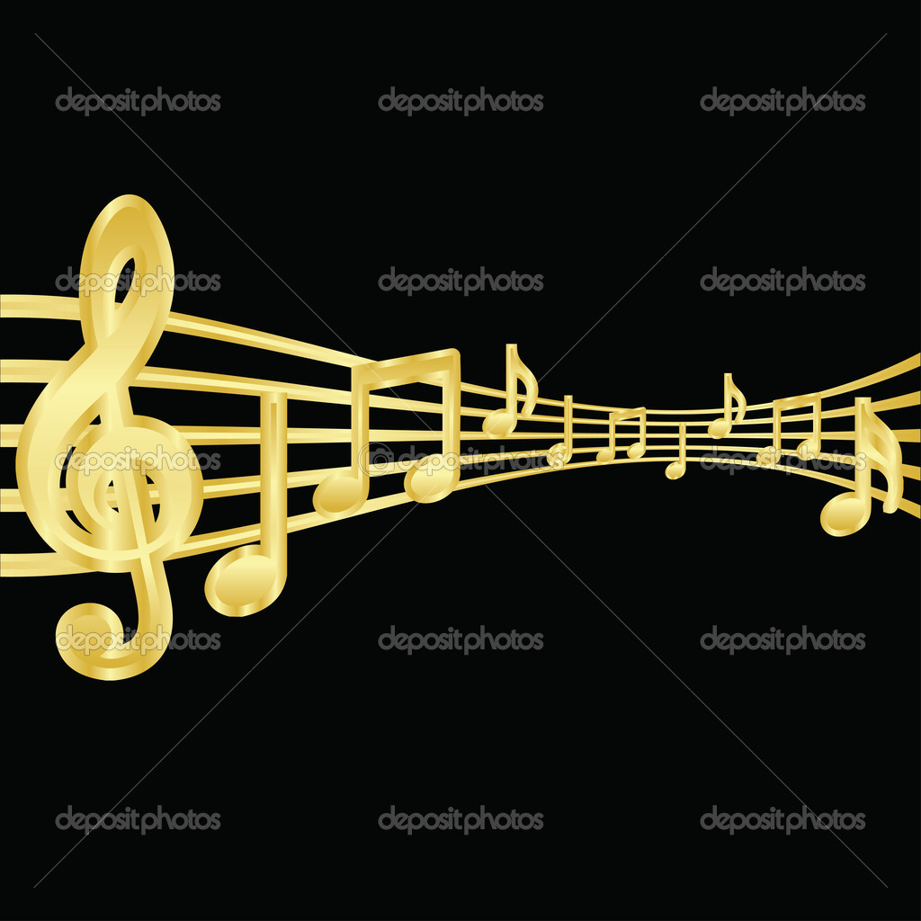 Vector gold notes  Stock Vector #7466500