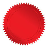 Red seal — Stock Vector