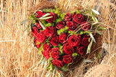 Herz aus Rosen — Stock Photo