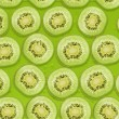 Seamless background of Kiwi slices — Stock Photo