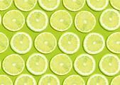 Seamless background of fresh lemon slices — Stock Photo