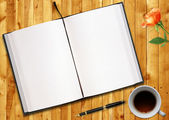 Blank book — Stock Photo