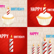 Set of Birthday Greeting cards — Stock Photo