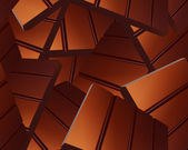 Delicious Sparse chocolate bars background — Stock Photo