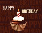 Verjaardag cupcake wenskaart — Stockfoto