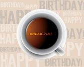 Chávena de café da manhã — Foto Stock
