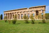 Podrobnosti o chrámů paestum salerno, itálie — Stock fotografie