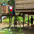 Long house of the Iban tribe — Stock Photo #7754141