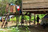Långhuset i iban tribe — Stockfoto