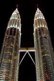 Petronas towers in the city Kuala Lumpur — Stockfoto