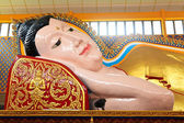 Lying Buddha statue in a temple — Stock Photo
