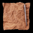 Crumpled sheet of paper and a pen — Stock Photo