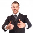 Studio shot of a business man on white background — Stock Photo