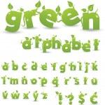 alfabeto floral verde — Foto de Stock