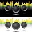 Stock Vector: Sound speakers