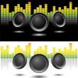 Sound speakers — Stock Vector