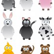 Royalty-Free Stock Vectorafbeeldingen: Series of pets and farm