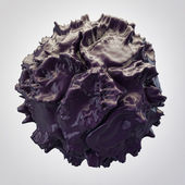 Black 3d abstraction — Stock Photo