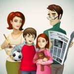 Family illustration — Stock Vector #7319489