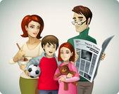 Rodzina ilustracja — Wektor stockowy