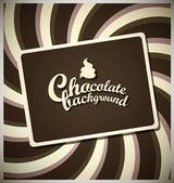 Chocolate background — Stock Vector