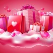 Valentines day card — Vettoriale Stock #7329316