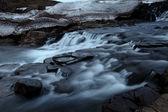 Night waterfall — Stock Photo
