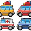 Minivan, ambulance car — Stock Vector