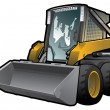 Skid loader - Stock Vector