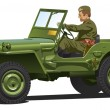 Постер, плакат: World war two army jeep
