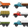 Trucks - Vettoriali Stock