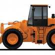 Heavy equipment loader - Stock Vector