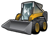 Skid loader — Stock Vector