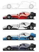 Racecars — Stockvektor